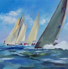 "Daily Paintworks - ""Start Line"" - Original Fine Art for Sale - © Tan Gillespie"