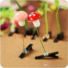 Heiße Neue Nette Kinder Kid Pflanzen Grass Fruit Hair Clips Glückliche Gras Bean Sprout Mushroom Partei Haar Pin Von