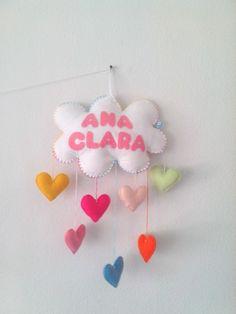 Móbile nuvem para a Ana Clara