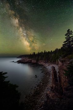 This photo has a blend of 12 exposures: 10 shots stacked for the sky and two foreground shots at different focus distances. Monument Cove, Acadia National Park, ME © Adam Woodworth, shot with the Nikon D810A.