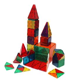 Look what I found on #zulily! Clear Color 60-Piece Building Set by Metro Mags #zulilyfinds