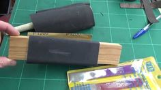 Showing you how I sharpen my leather punches etc. My website is http://www.bucklehurstleather.co.uk/.