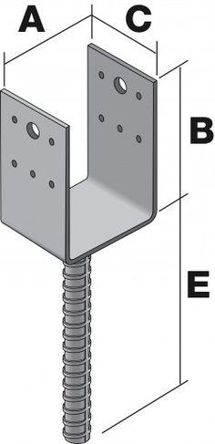 Anclaje hierro para columna