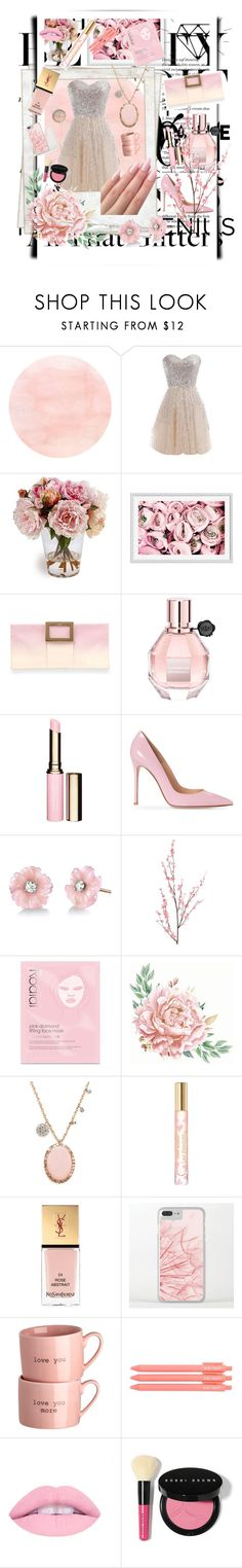 """#PolyPresents: Party Dresses"" by loulouc11 ❤ liked on Polyvore featuring WithChic, Polaroid, Pottery Barn, Roger Vivier, Viktor & Rolf, Clarins, Irene Neuwirth, Pier 1 Imports, Rodial and Meira T"