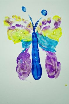 Footprint butterflies...