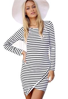 Ribbed Stripe Bodycon Dress | Forever 21 - 2000173341 ...