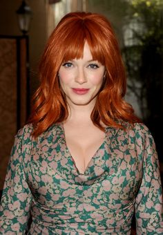 """Christina Hendricks on the example her mother set for her: """"I guess my mom raised me right. She was very celebratory of her body. I never heard her once say, 'I feel fat.' Back when I was modeling, the first time I went to Italy I was having cappuccinos every day, and I gained 15 pounds. And I felt gorgeous! I would take my clothes off in front of the mirror and be like, Oh, I look like a woman. And I felt beautiful, and I never tried to lose it, 'cause I loved it."""""""
