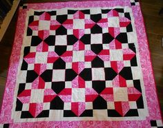 Rebel Patch, Breast Cancer Lap Quilt