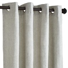 Soft and subtle shimmer, grommet top, clean and easy hanging and a faux linen finish. A magical panel if ever there was one. Oh, did we mention it's machine-washable, too? Forget magic. We're getting into miracle territory now.