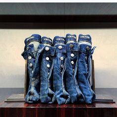 """TOM FORD, New York, """"Like bookends, we have learned to support The Blue Jean Line Up"""", pinned by Ton van der Veer"""