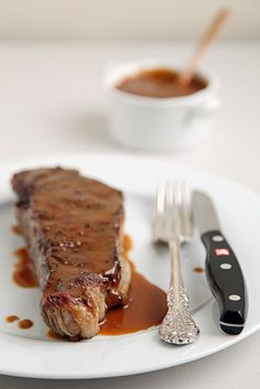 Steak With Miso Mustard Butter Sauce: Capture a taste of Jean-Georges Vongerichten's Las Vegas-based Prime Steakhouse by dressing a thick, juicy steak with his miso mustard butter sauce.