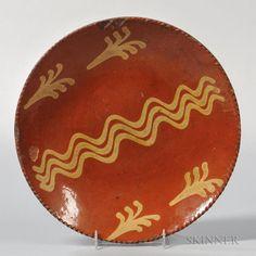 Slip-decorated Redware Plate - Price Estimate: $200 - $300