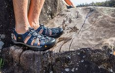 The Keen Men& Newport Sandal is a rugged sandal for adventures that move between water and trail with no time for stopping. In the kayak, out of the kayak, walk up a creek and snap a pic of the hidden waterfall, then turn around and get back in t Me Too Shoes, Men's Shoes, Shoe Boots, Best Water Shoes, Hiking Backpack, My Guy, Outdoor Gear, Hiking Boots, Camino De Santiago