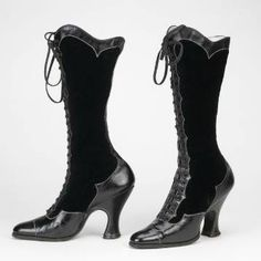 1930s boots, museum photo.