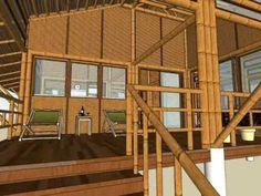 Construcción ecológica con bambú.  #bioconstrucción #casas #arquitectura