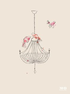 Image of 'Chandelier' print from Mitchell & Dent