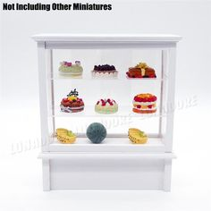 Odoria 1:12 Miniature Cake Showcase Bakery Store Cabinet Counter Shelving Dollhouse Shop Furniture Accessories