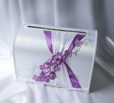 """Свадебный сундучок для денег """"Цветочная свадьба""""  #wedding  #violetwedding…"""
