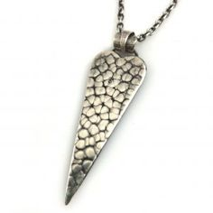 Cobblestone Textured Heart Necklace