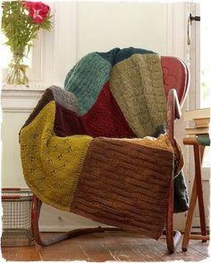 Manta de lana con jerseys reciclados