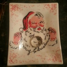 Vintage jewelry tray Vintage santa jewelry tray. Ring not included. Accessories