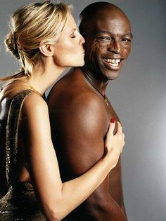 Heidi Klum and Seal...I hate they split