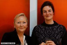 """Künstlerin Helene B. Grossmann und Galeristin Sybille Nütt am 26.09.2013 bei der Vernissage zur Ausstellung """"only light"""" in #galerienuett #dresden #kunstindresden #barockviertel"""