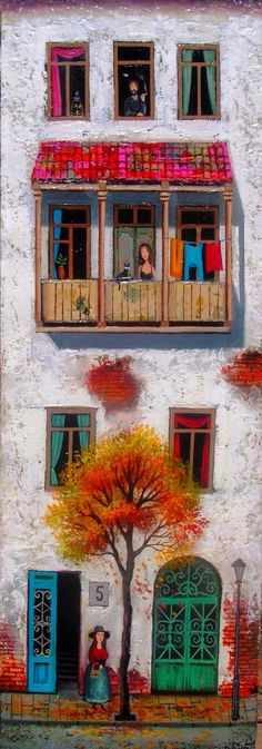 "Dramatic Art~ My Colourful Neighbours!~ Artist: David Martiashvili - ""Morning"""