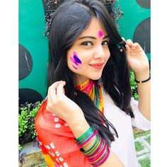 Image may contain: 1 person Cute Girl Poses, Cute Girl Photo, Beautiful Girl Photo, Beautiful Girl Indian, Beautiful Girl Image, Beautiful Indian Actress, Cute Girls, Holi Girls, Prity Girl