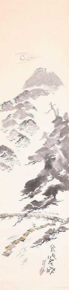 Landscape by Tomita Keisen 富田渓仙 (1879-1936).