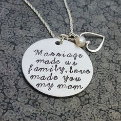 Trendy Wedding Gifts For Mom In Law Hand Stamped In Law Christmas Gifts, Christmas Wedding, Diy Christmas, Gifts For Inlaws, Gift For Boyfriends Mom, Mother In Law Birthday, Mom In Law, Daughter In Law Quotes, Mother In Law Gifts
