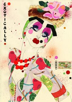 Love, love, love candy colored fashion illustration