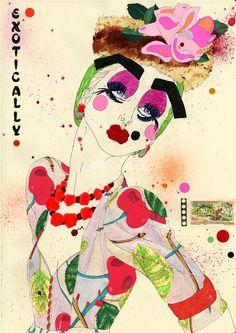 Love, love, love candy colored fashion illustration