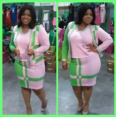 Sorority Fashion, Sorority Outfits, Aka Sorority, Sorority Life, Aka Paraphernalia, Alpha Kappa Alpha Paraphernalia, Alpha Kappa Alpha Sorority, Green Style, Professional Wear