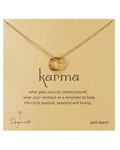 Dogeared Tri Karma Gold Necklace, 18""