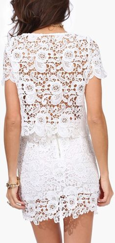 Crochet Lace Dress ♥