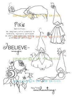Pixie Play Clear Polyemer Stamp Collection - $28.00 : A Day For Daisies, Custom Artwork - ADayForDaisies.com