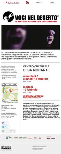 Voci Nel Deserto - Spazio Elsa Morante - Roma Movie Posters, Rome, Film Poster, Popcorn Posters, Film Posters, Posters