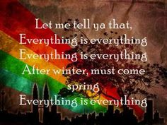 """""""Everything is Everything"""" by Lauryn Hill- This song was put in the movie because it provides a clear illustration of the women's suffrage movement. """"i wrote these words for everyone"""" and """"it seems we lose the game before we even play"""" are just some of the lyrics that relate to the fight the women had to make and all the ups and downs they went through to gain their rights."""