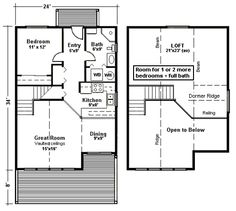 Small House Plans With Loft i adore this floor plan i really want to live in a small Find This Pin And More On Not So Tinysmall House Plans