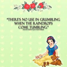 """I ❤ Disney Quotes (Snow White.haha I blame her for us believing this so called """"Prince"""" is going to come.all I know is mine got stuck in traffic! Disney Love, Disney Magic, Disney Mickey, Disney Stuff, Walt Disney, Disney Family, Movie Quotes, Life Quotes, Qoutes"""