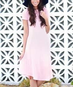 Look at this So Perla Pink Shift Dress on #zulily today!