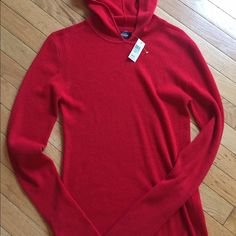 Kate Spade Cashmere Sweater NWT Kate Spade cashmere blend sweater with hoodie. NWT. Bought at Nordstrom's. kate spade Sweaters