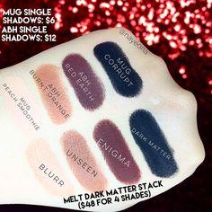 Melt Cosmetics Dark Matter Stack Dupes