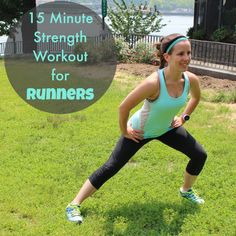 15 Minute Equipment-Free Strength Workout for Runners - Race Pace Jess