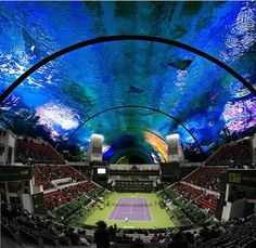 Take A Look Inside The World's First Underwater Tennis Court