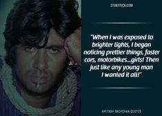 15 Quotes By Amitabh Bachchan That Prove He Is The 'Shahenshah' Of Bollywood Broken People, Real People, Man Images, Life Images, Amitabh Bachchan Quotes, Real Quotes, Life Quotes, Challenge Images, Motorbike Girl