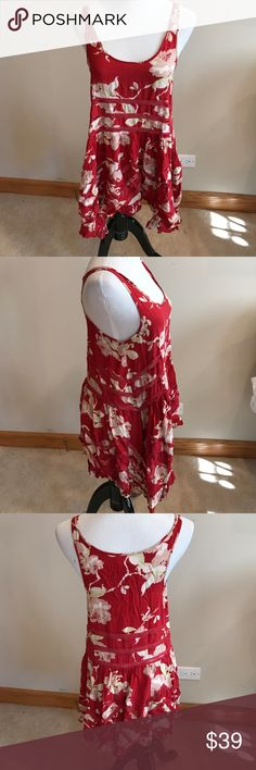 Free People S lace trim dress Free People S lace trim dress in gently worn clean condition. No trades. I wore this as a bathing suit cover up. Very clean. Free People Dresses