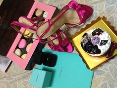 A complete proposal: tifanny ring and a pair of kate spade shoes for wedding!