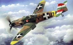 retrowar — Messerschmitt Bf in the Hungary Air Force -. Ww2 Aircraft, Fighter Aircraft, Military Aircraft, Fighter Jets, Heroes And Generals, Ukraine, Aircraft Painting, Airplane Art, Defence Force